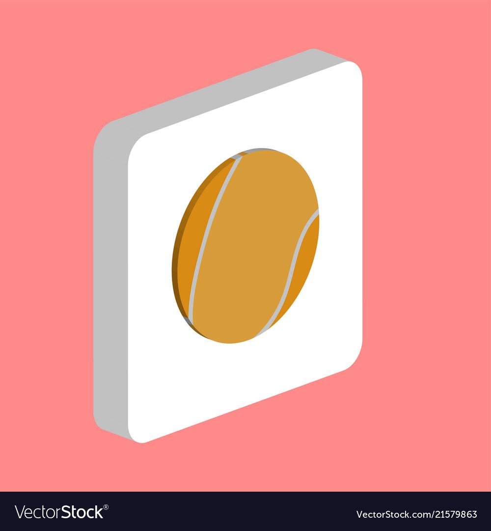 Tennis ball computer symbol