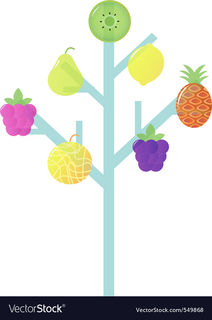 Abstract stylized retro fruit