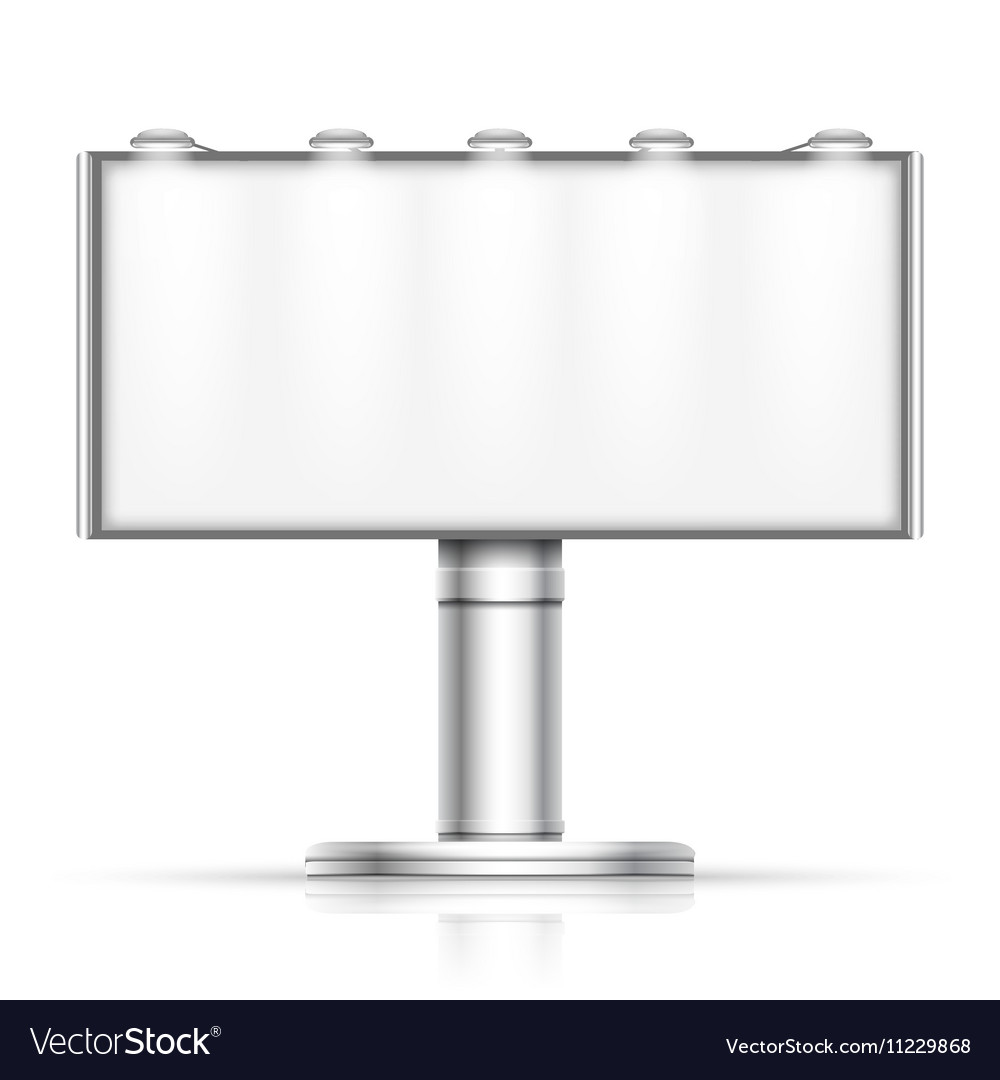 Advertising outdoor blank billboard isolated on