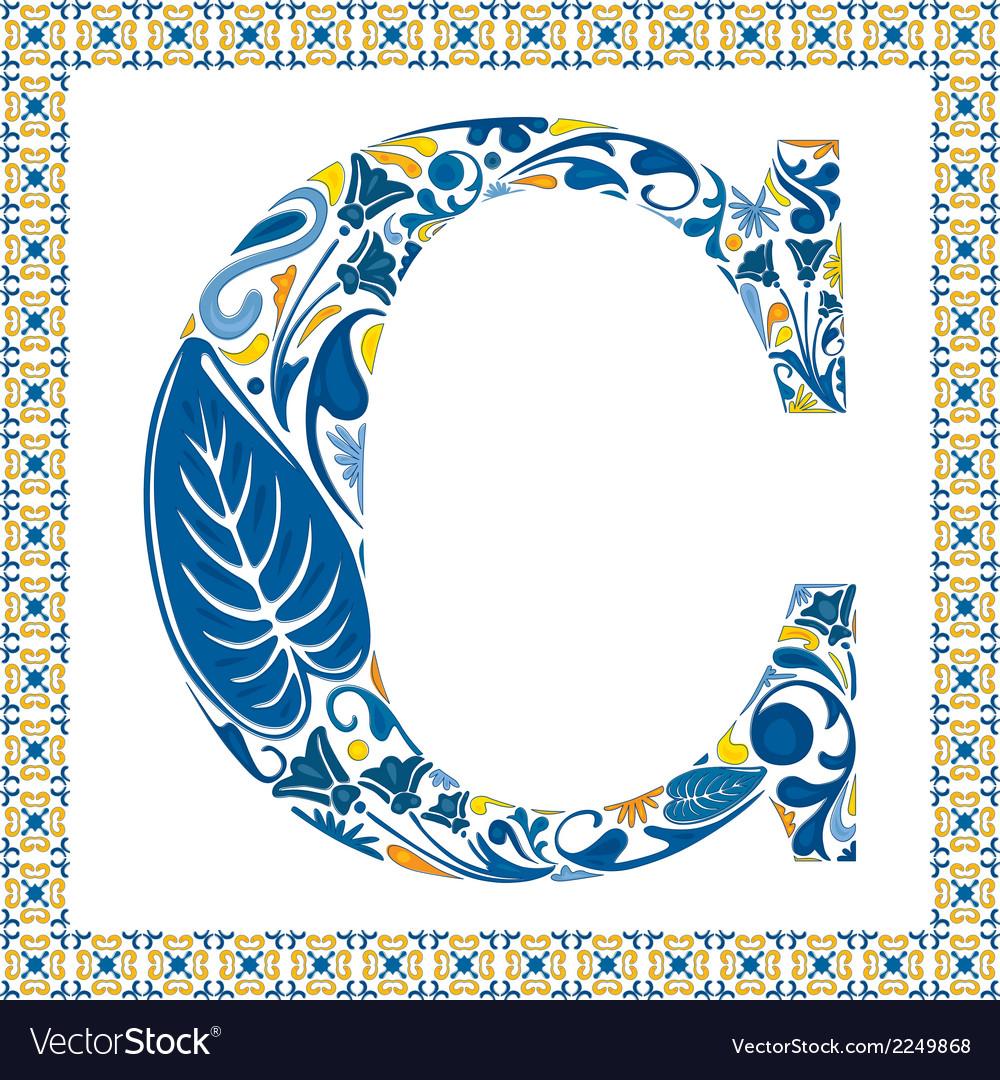 Blue letter C