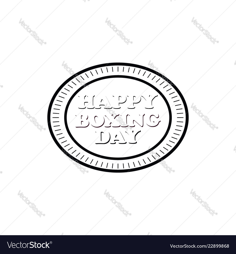Concept for boxing day on isolated background