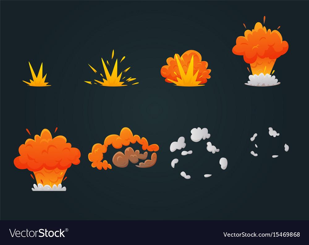 Explosion animation icon set