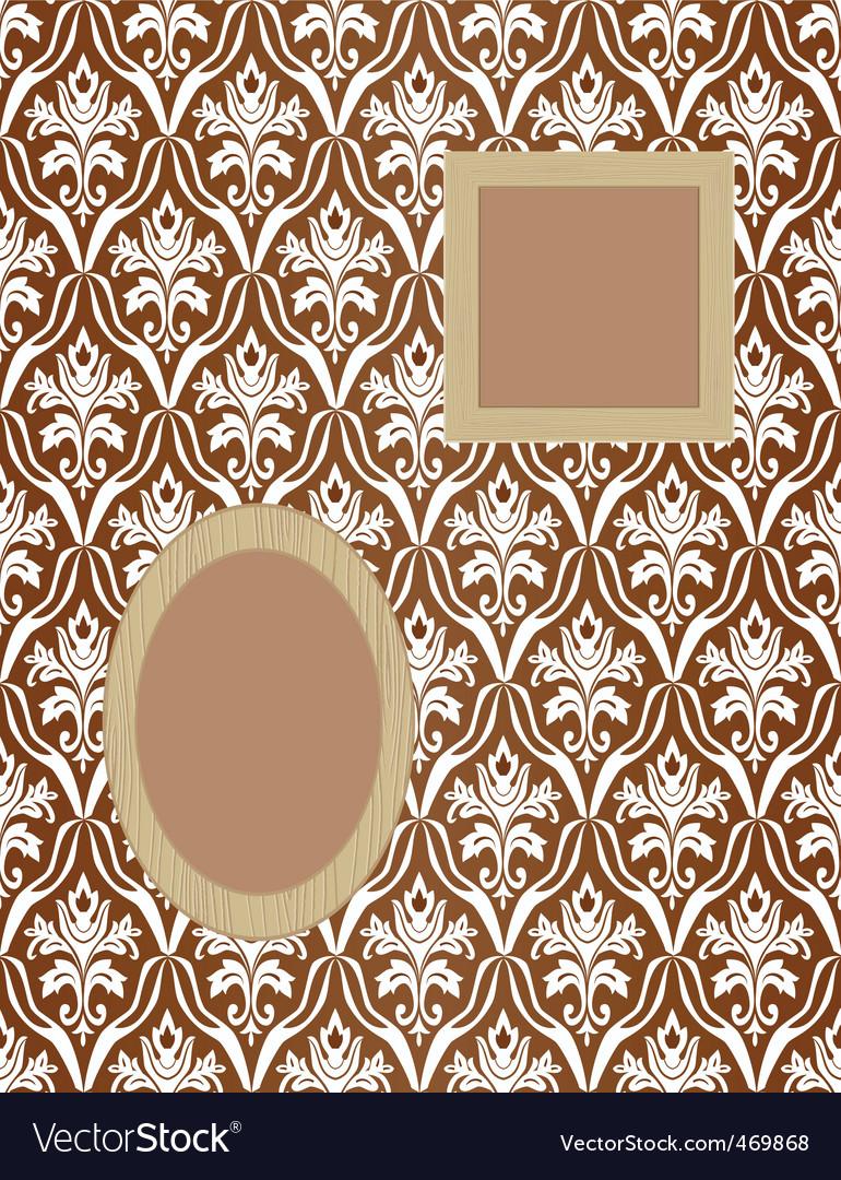 Framework for photos on wallpaper