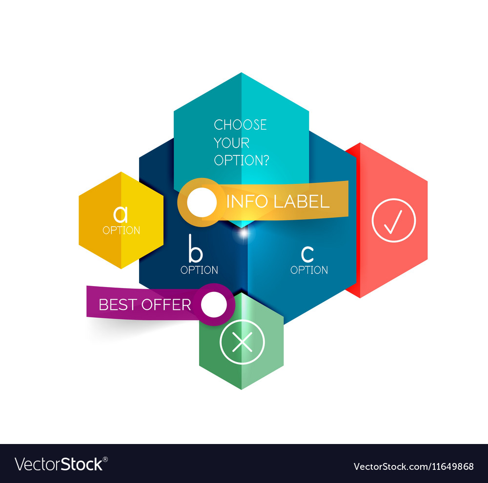 geometric business infographics templates vector image