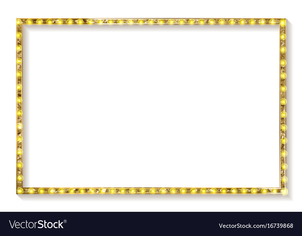 17bcc60c2526 Gold Frame Cinema On A White Background Royalty Free Vector