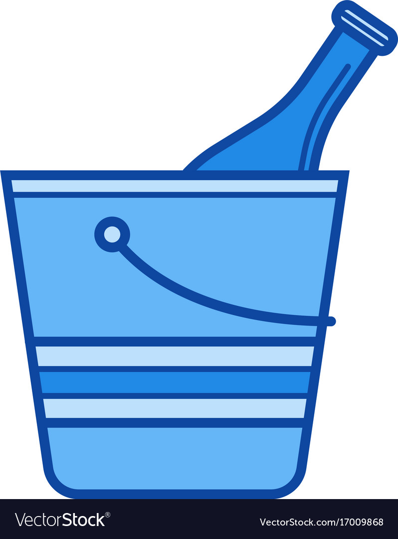 Ice bucket line icon