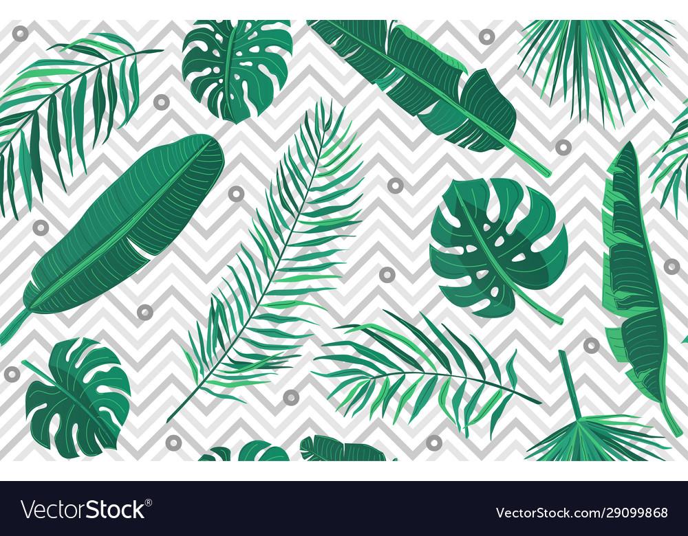 Tropic seamless pattern geometric modern endless