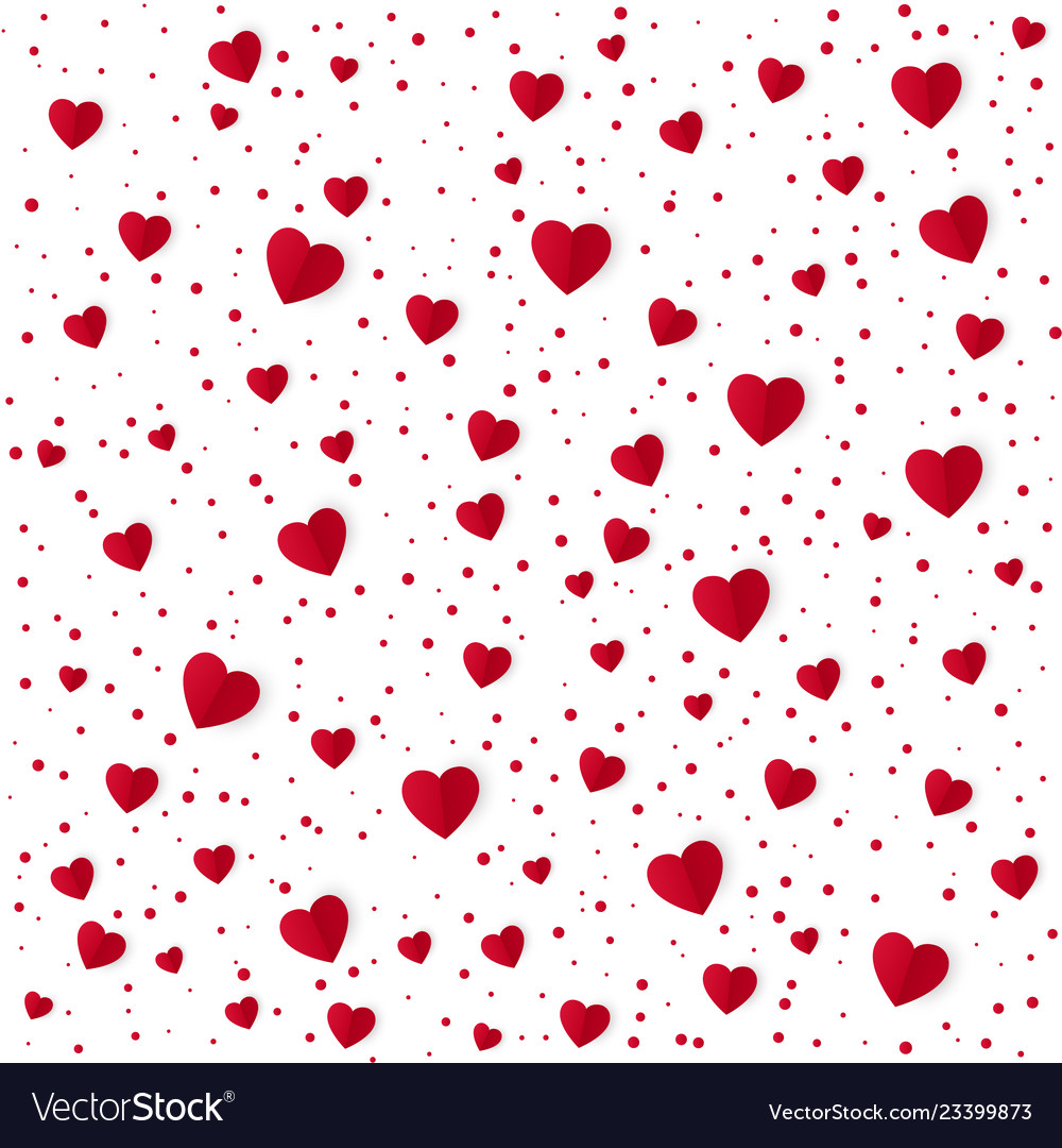 Abstract heart pattern background paper red