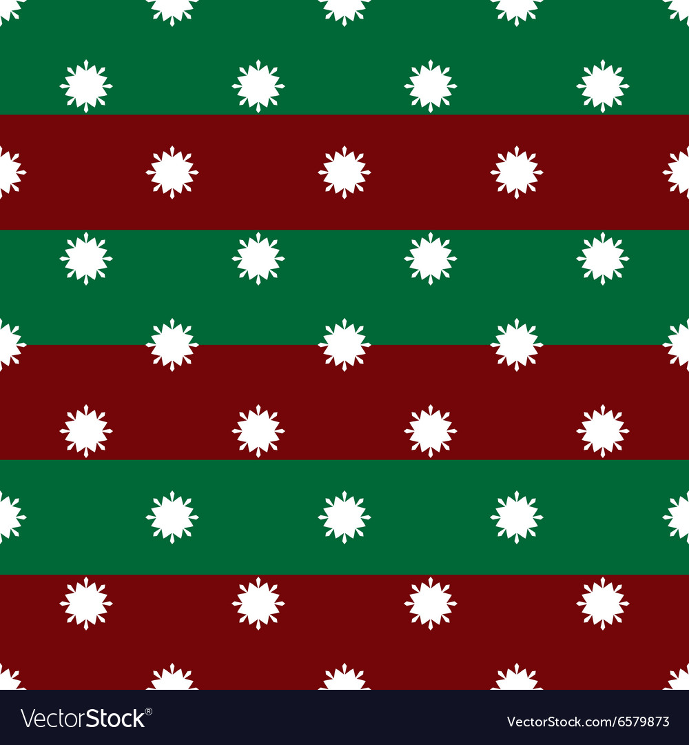 Christmas winter snowflakes on red and green vector image