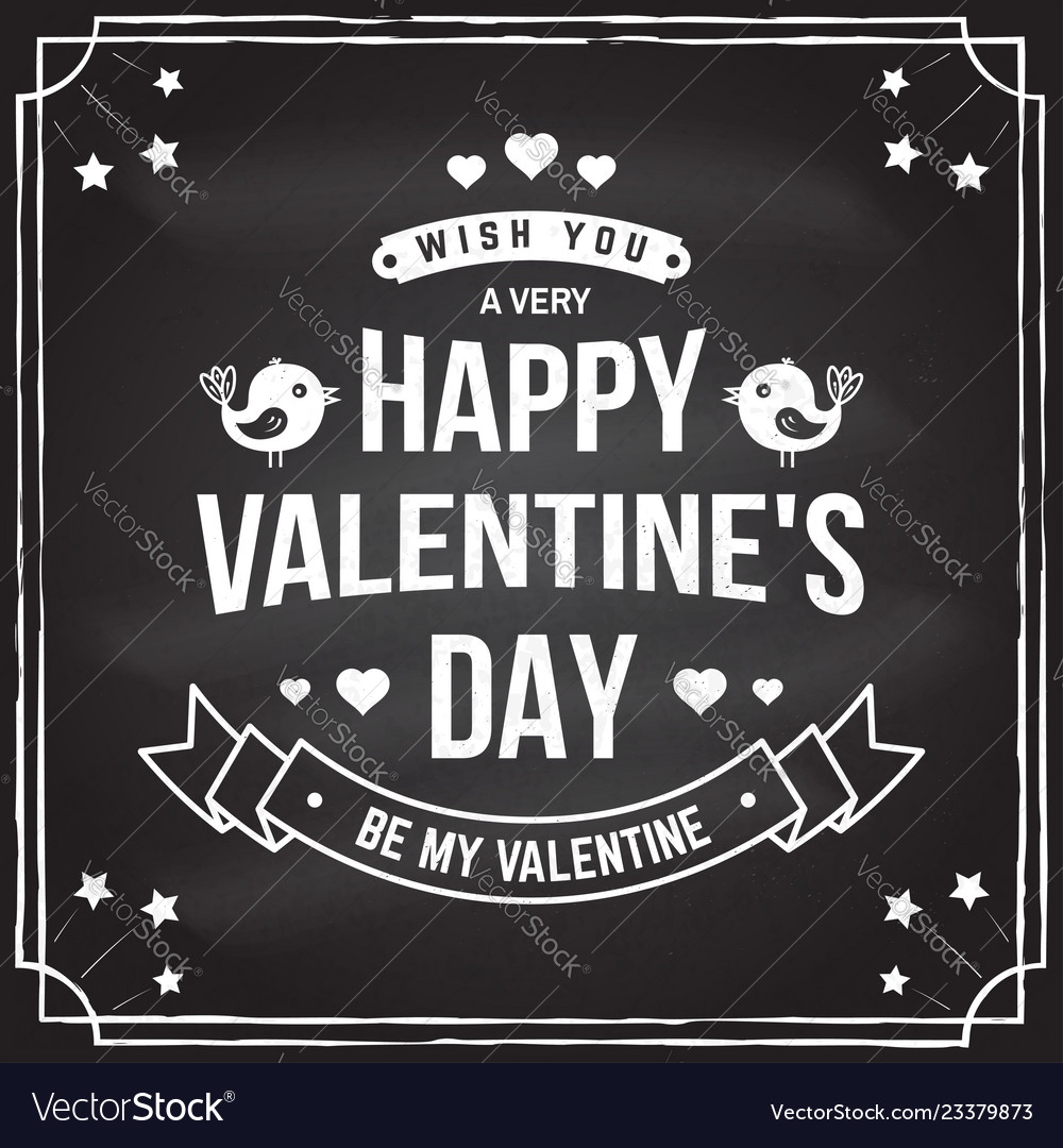 Happy valentines day stamp badge card with