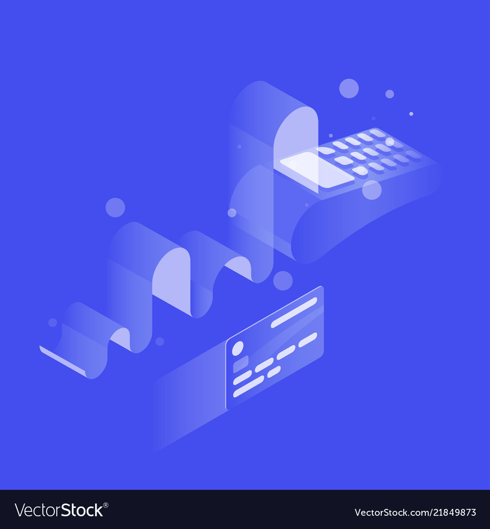 Isometric payment terminal