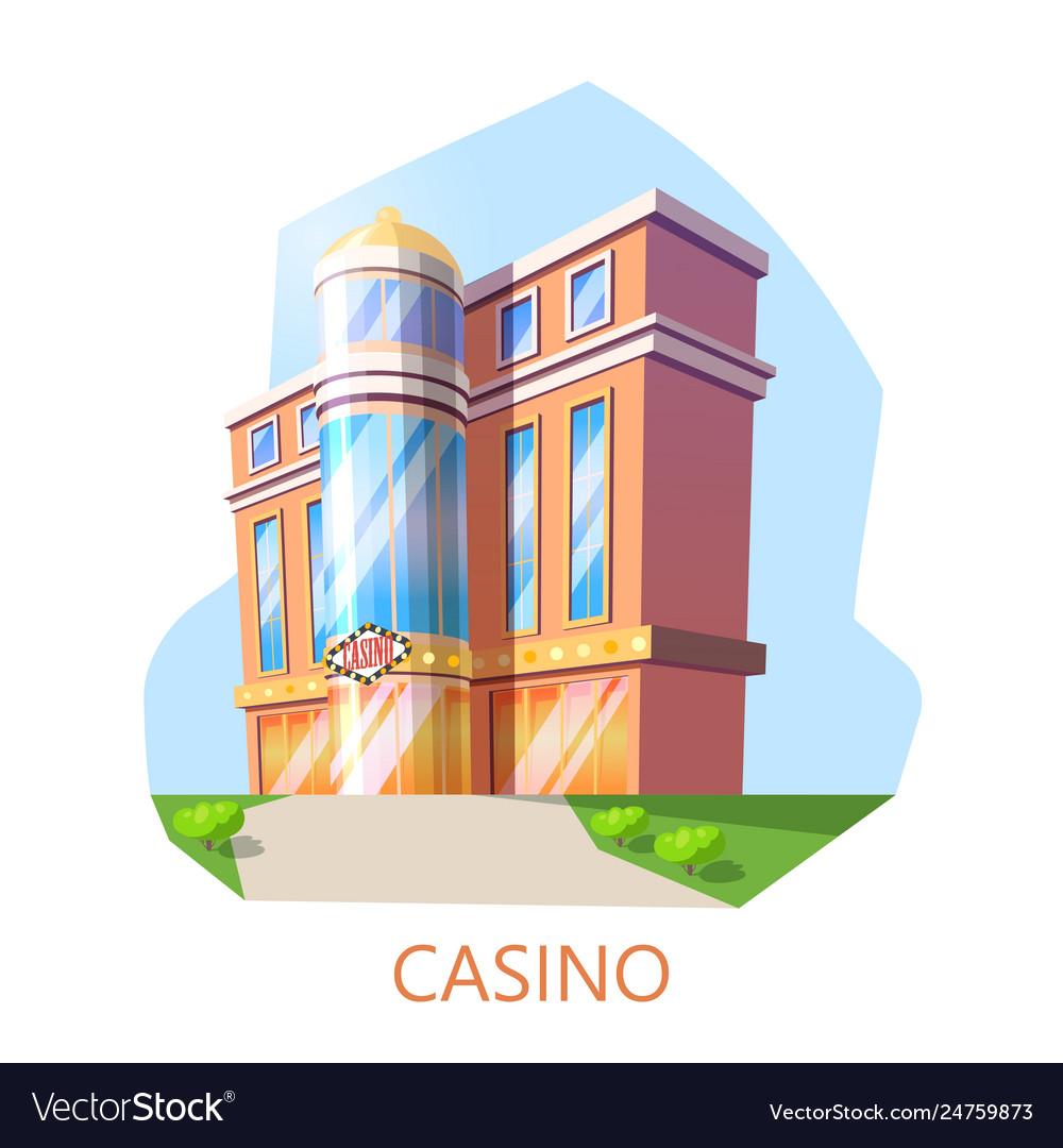 Modern casino building exterior view architecture