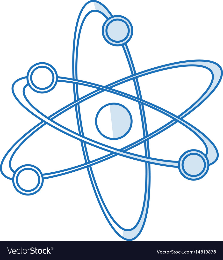 Blue silhouette shading atom structure icon vector image ccuart Images