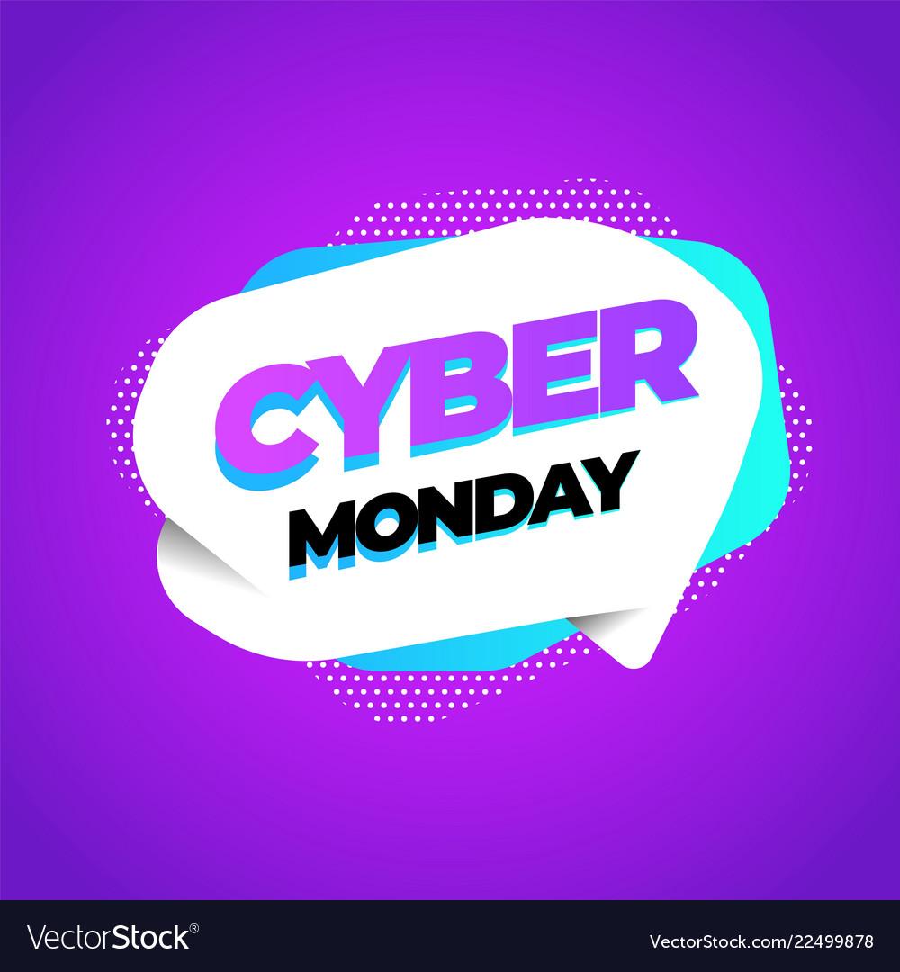 Cyber monday discount sale concept inscription