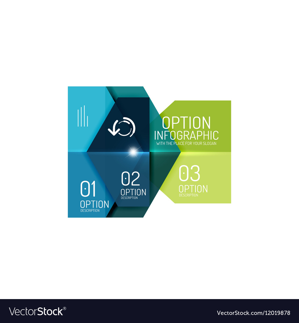 Infographic modern templates - geometric shapes Vector Image