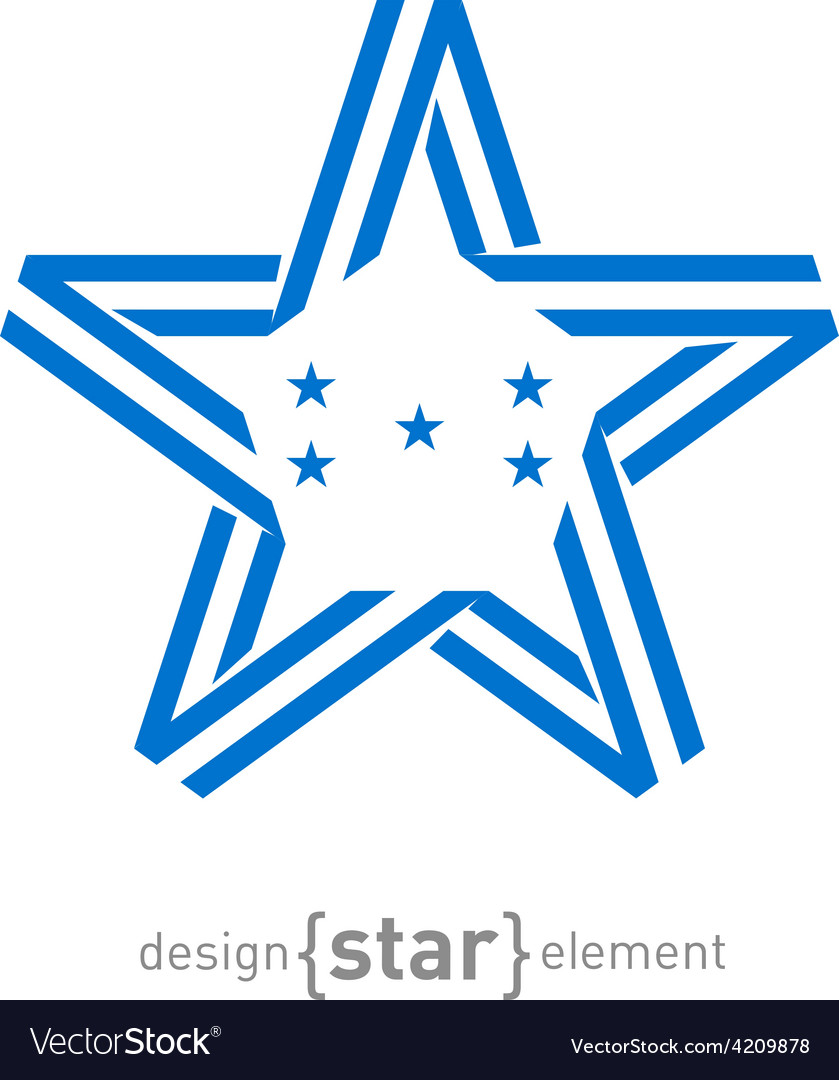 Monocrome star with Honduras flag colors and