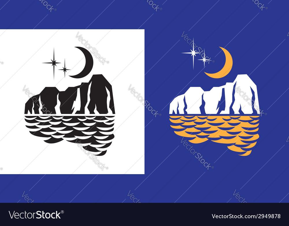 Moon lights vector image