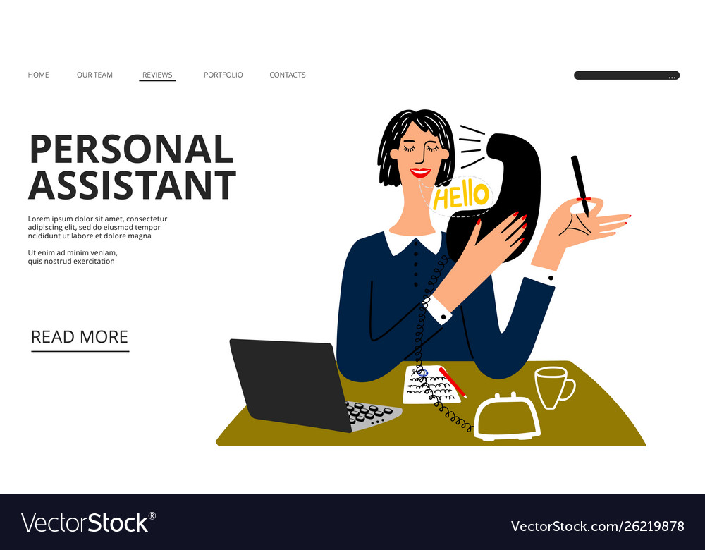 Personal assistant landing page business