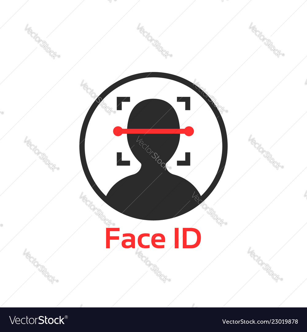 Simple face id scanner icon