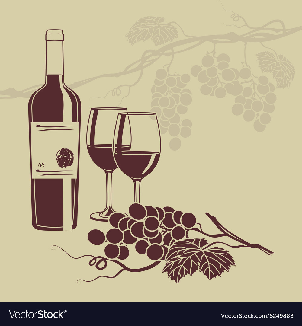 background template for the wine menu royalty free vector