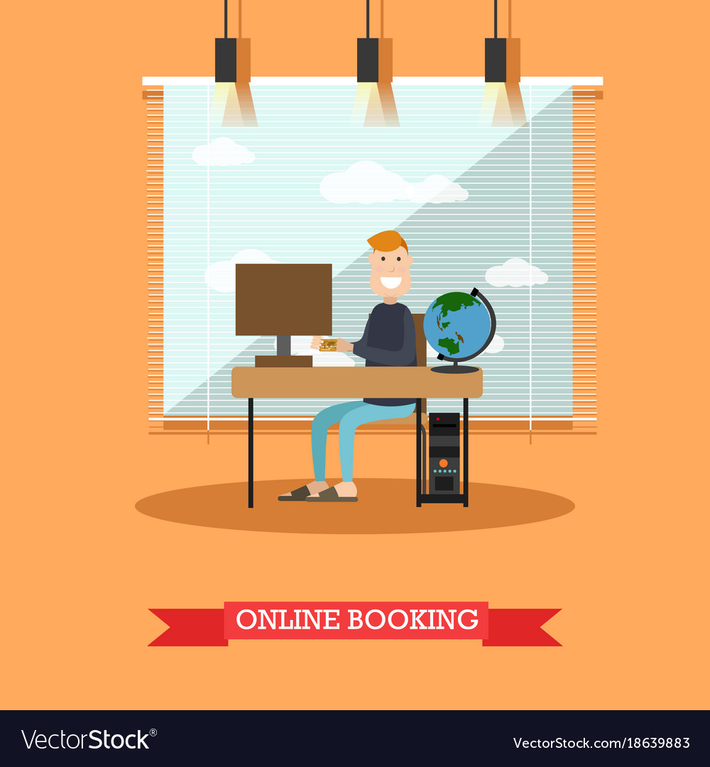 Online hotel booking in flat