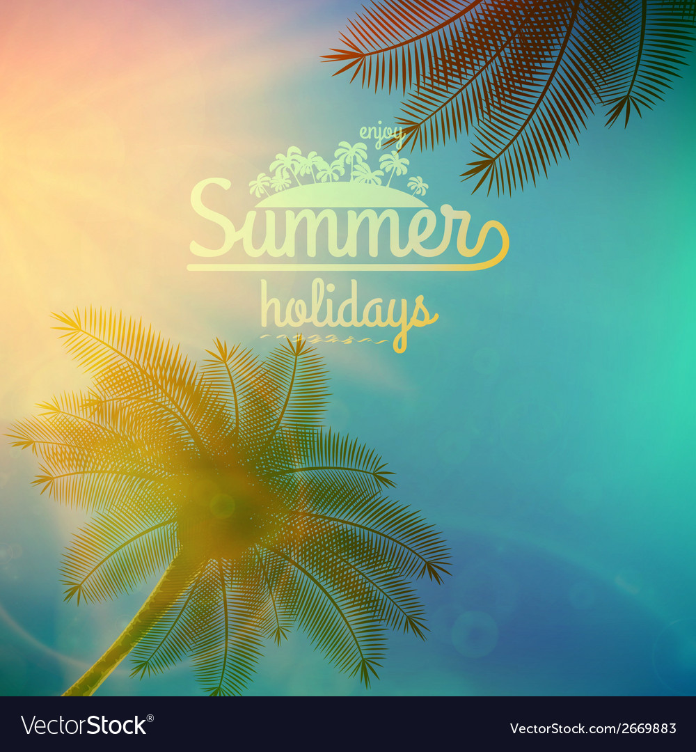 Palm Tree Sunset typography poster