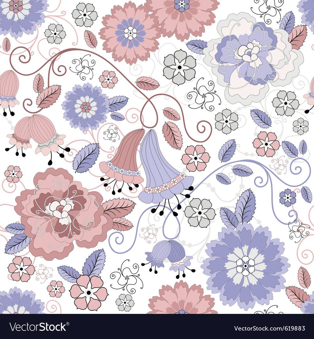 Pastel floral pattern vector image