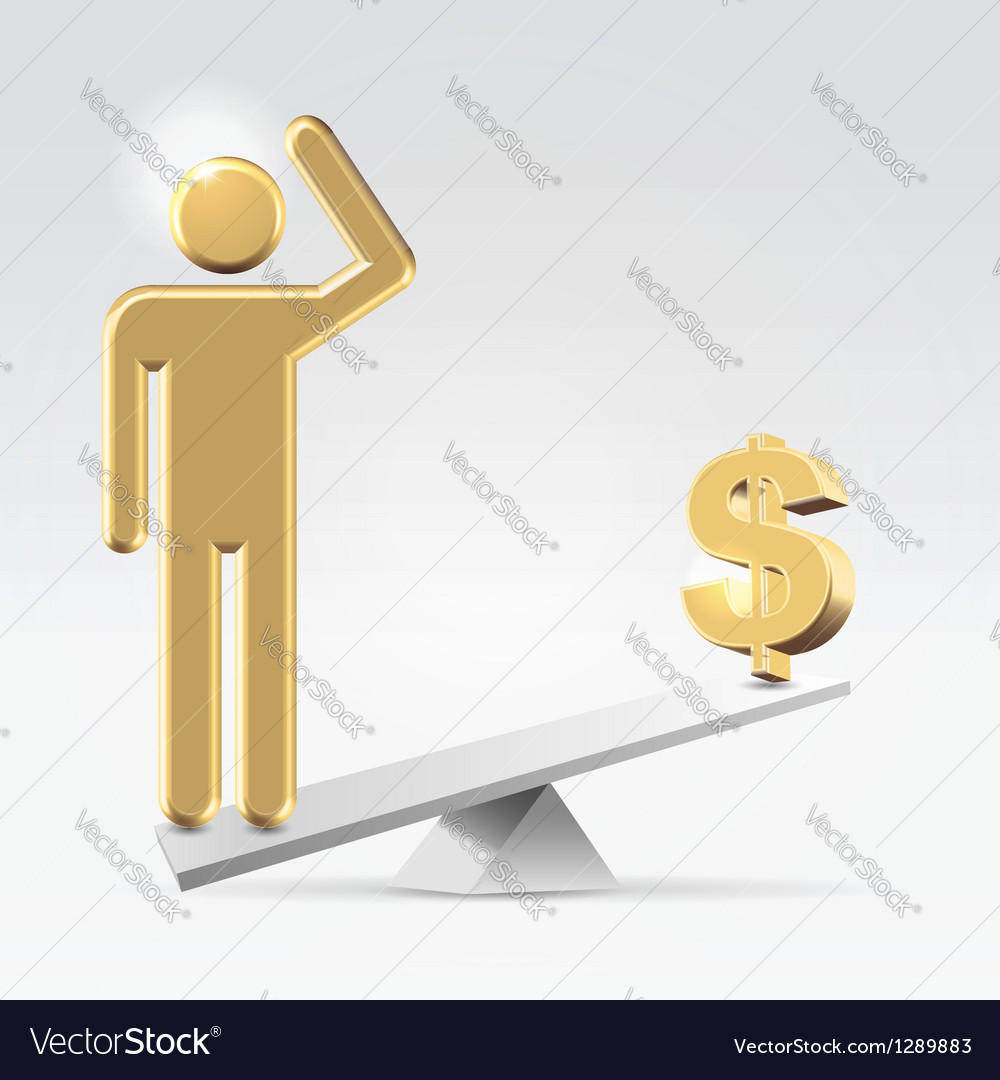 People over money vector image