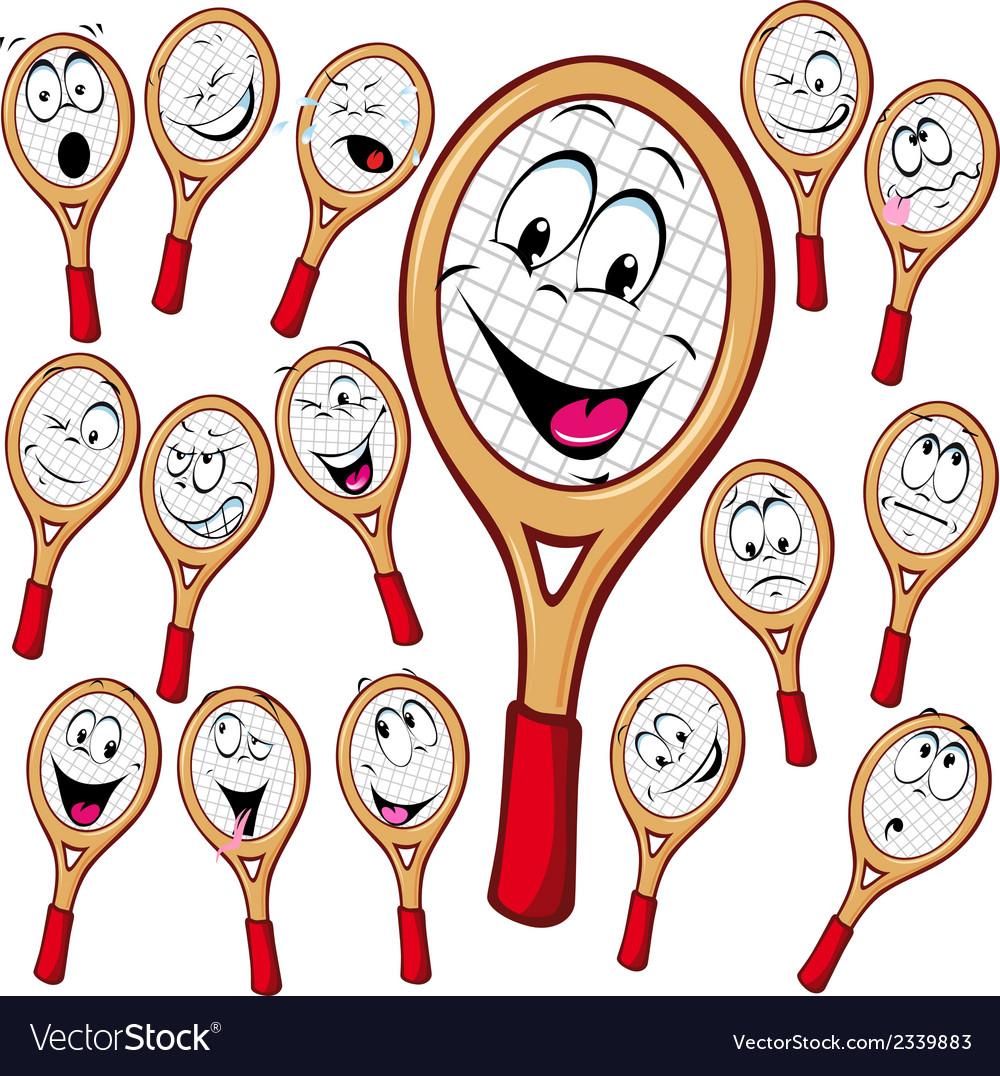 Tennis Racket Cartoon Royalty Free Vector Image