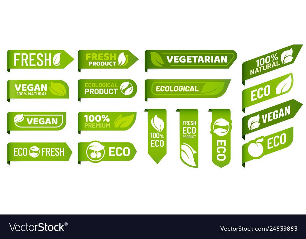 Vegan mark labels fresh vegetarian products eco