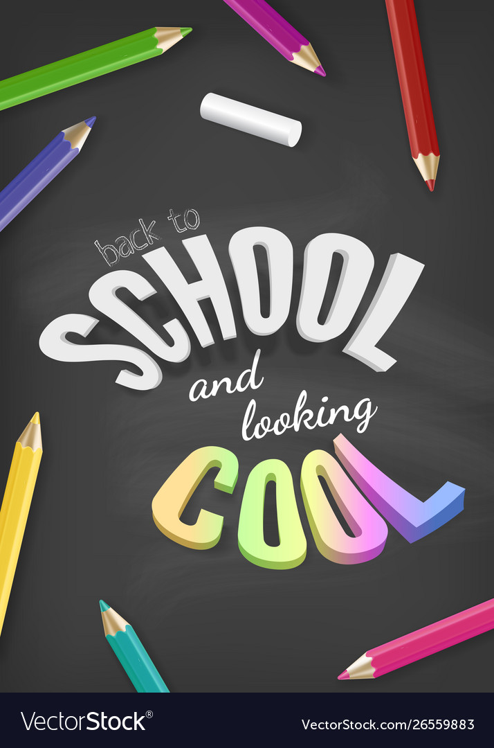 Welcome back to school design with colorful text