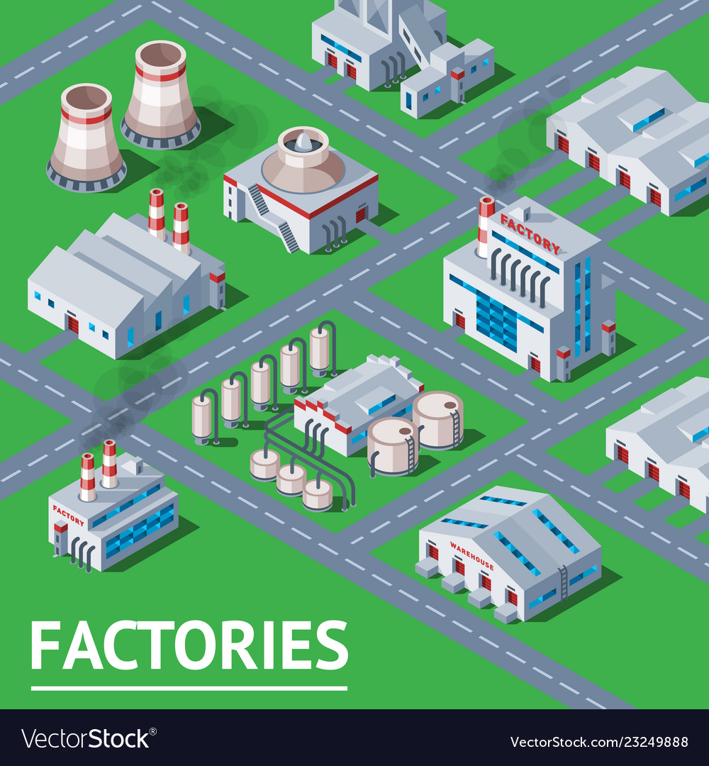 Factory industrial building and industry