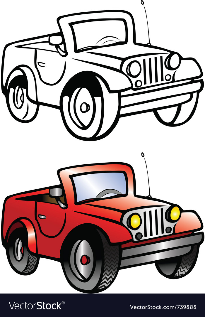 Jeep coloring book