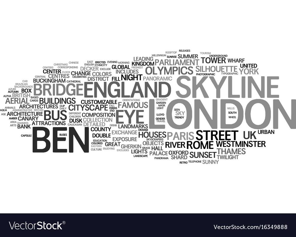 London word cloud concept