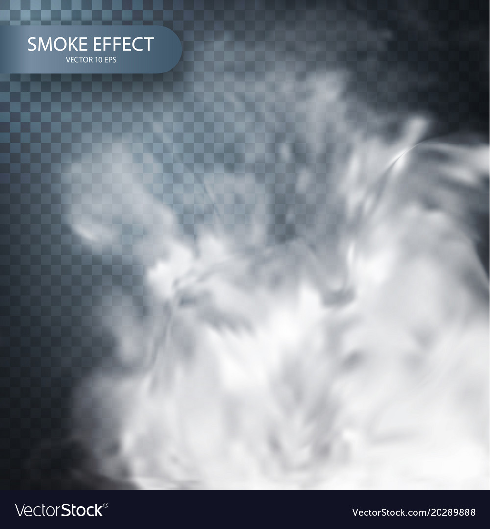 Smoke effect on a transparent background