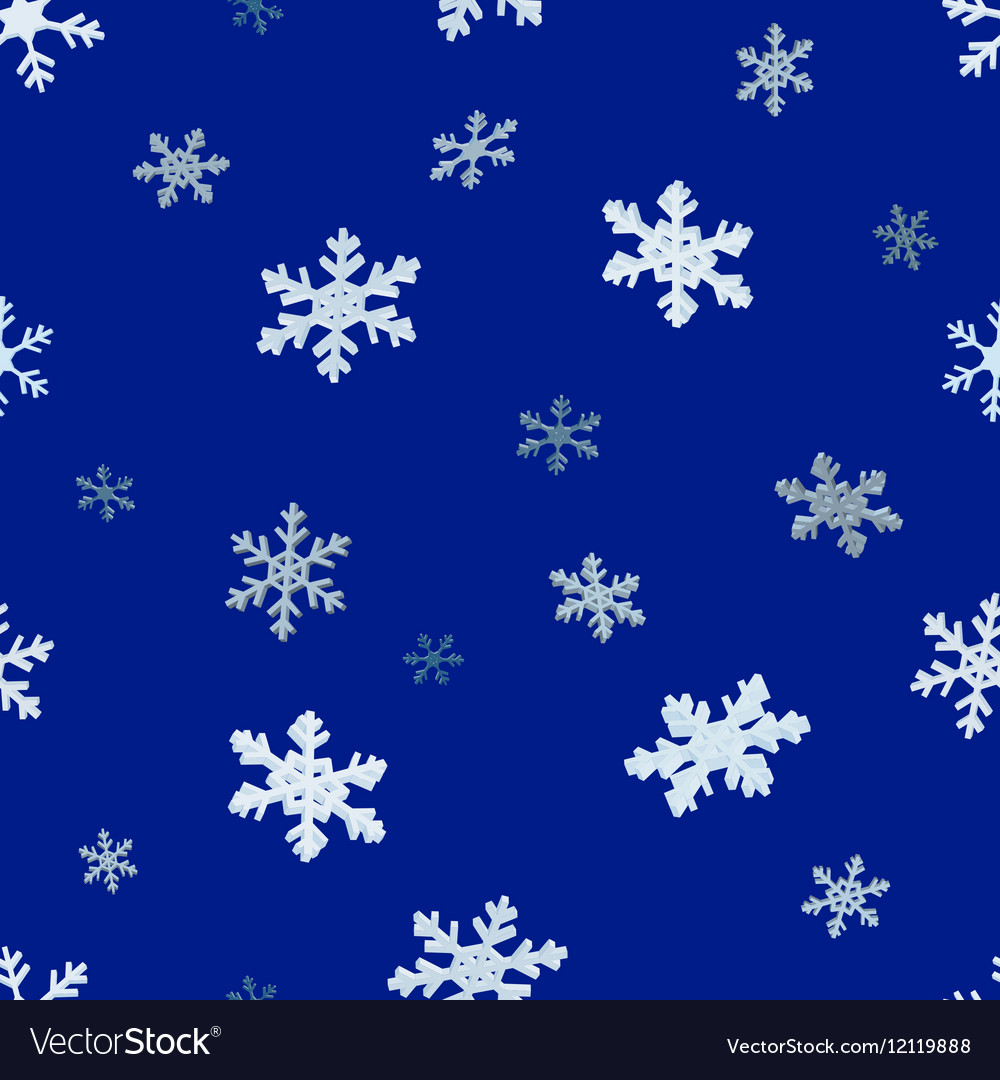 The falling snowflakes Seamless background