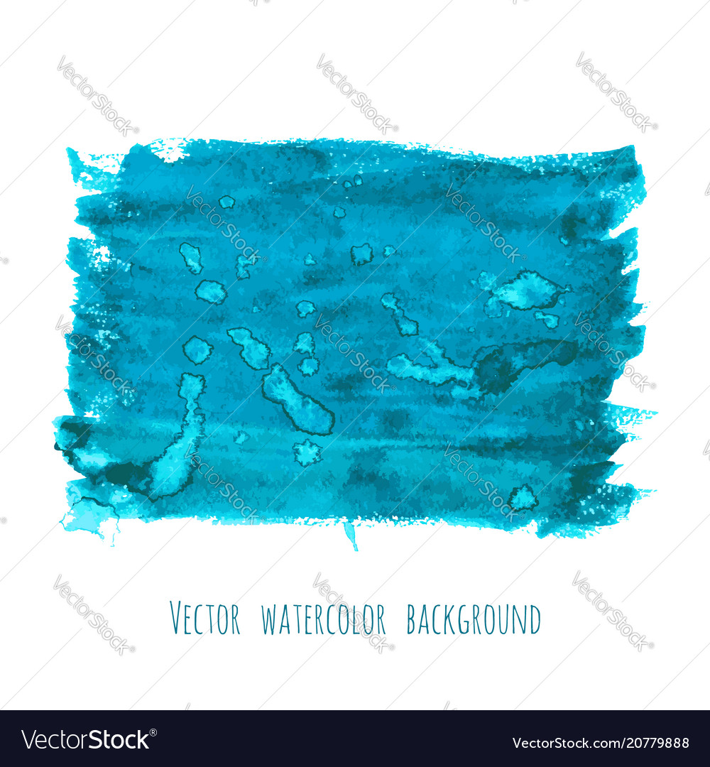 Turquoise blue watercolor painted texture