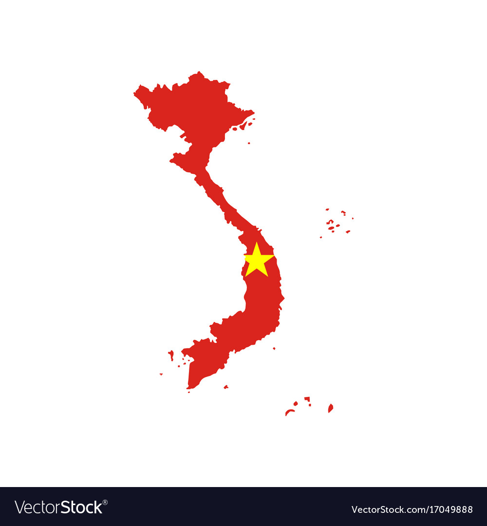 Vietnam Flag And Map Royalty Free Vector Image