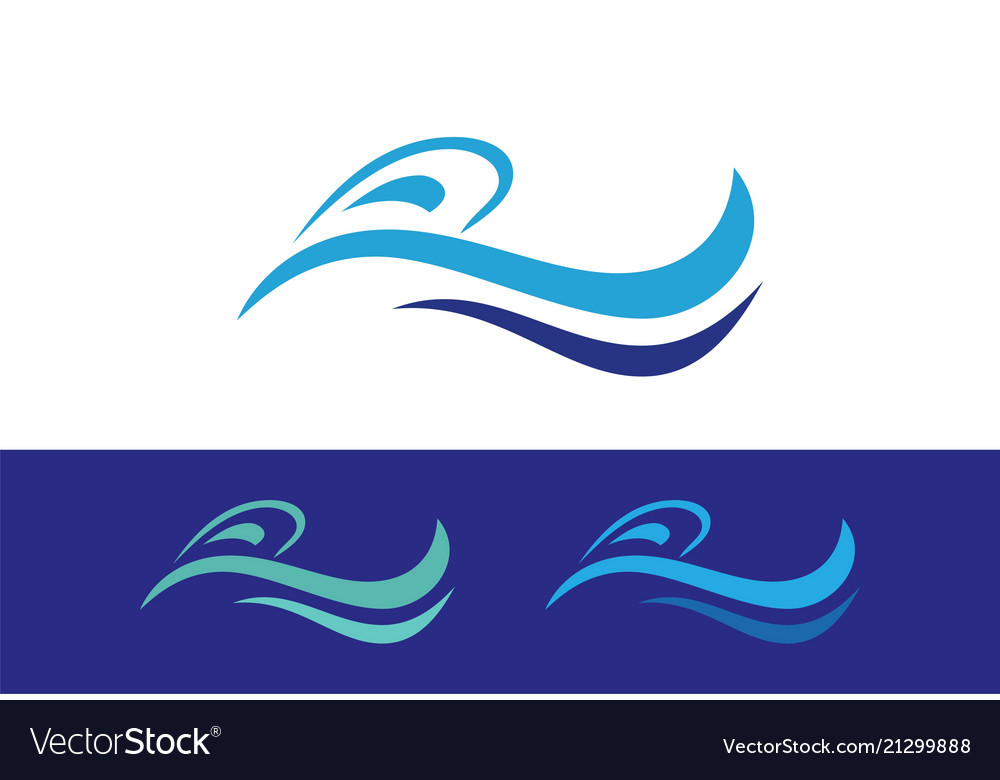 Wave abstract logo