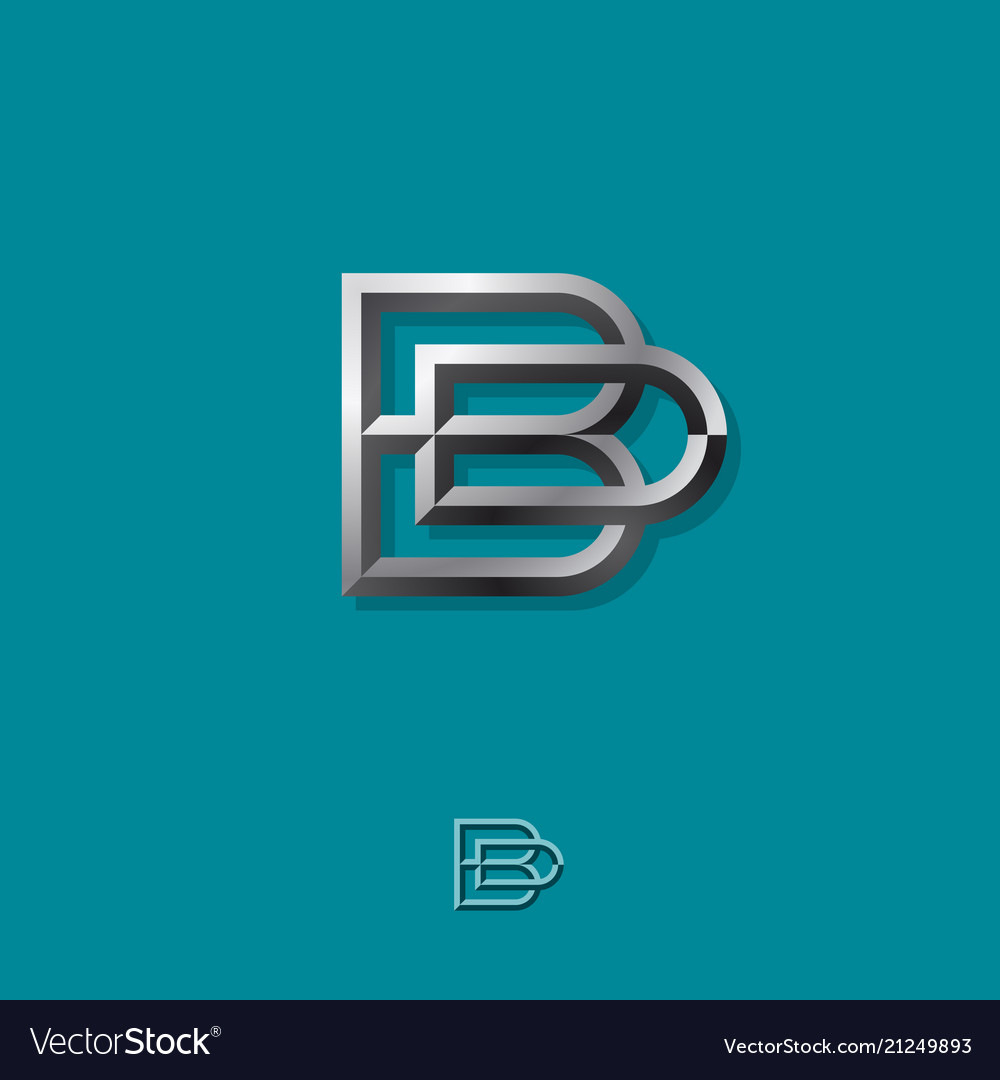 B and d combined silver letters b d monogram