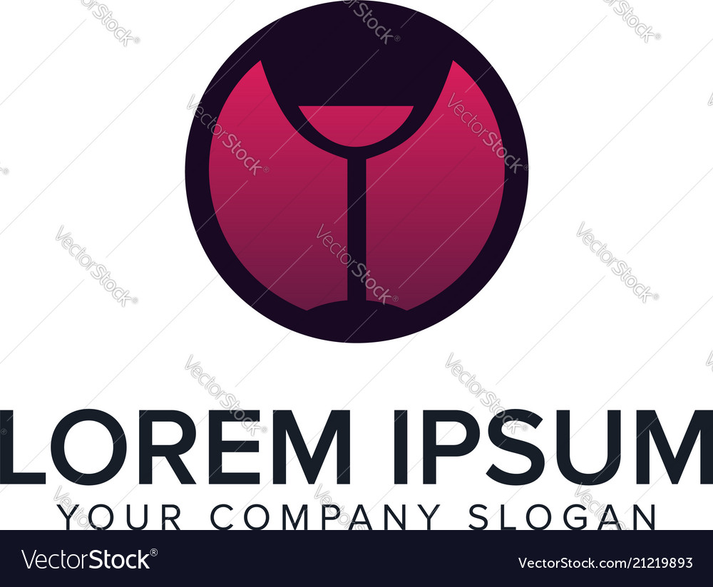Bar night club logo design concept template