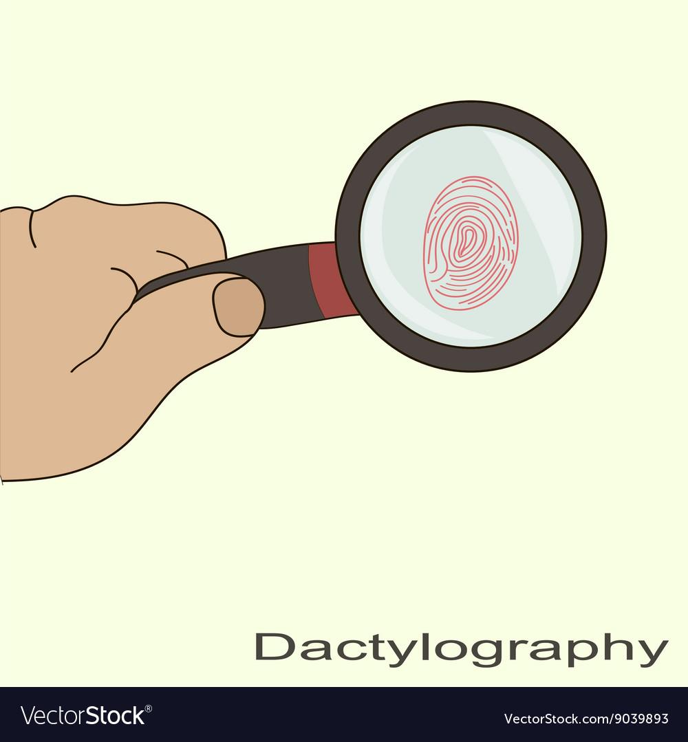 Dactyloscopy fingerprint magnifier