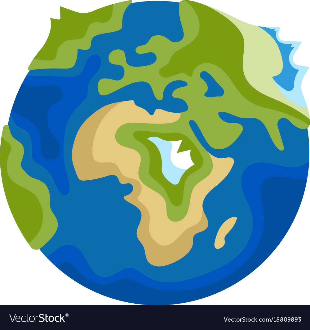 Earth icon on white background