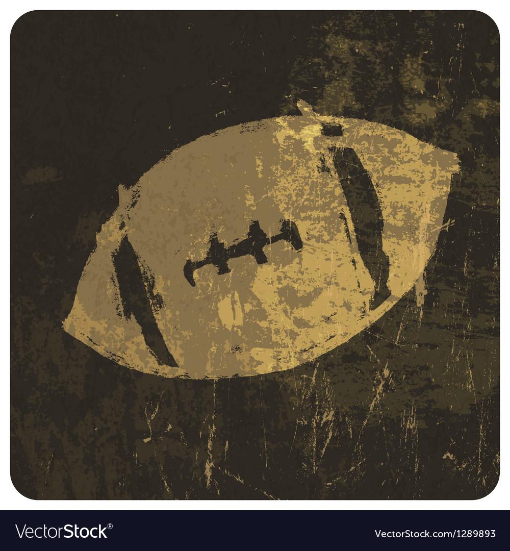 Grunge american football icon vector image