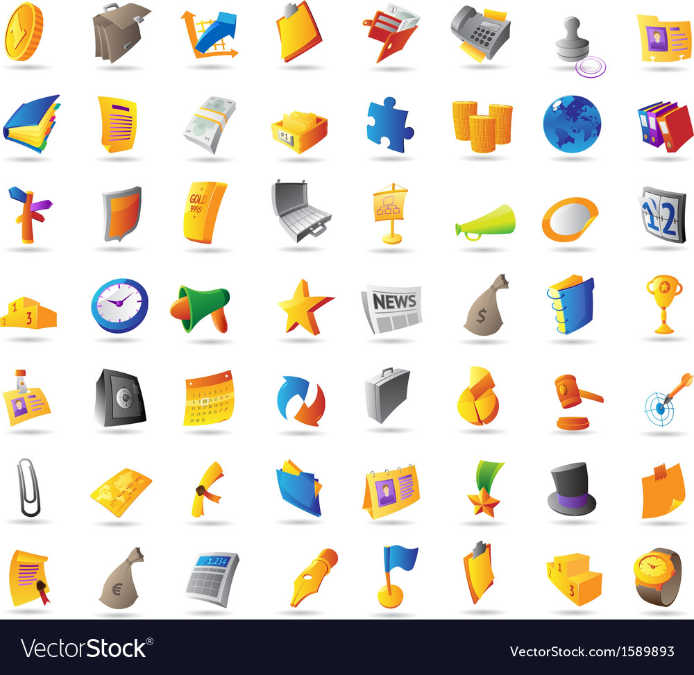 Icons for business finance and office