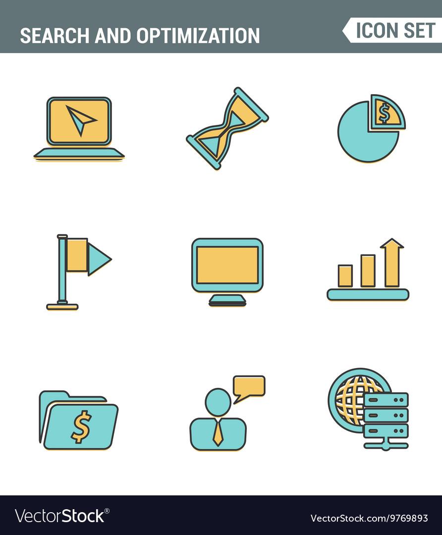 Icons line set premium quality of website