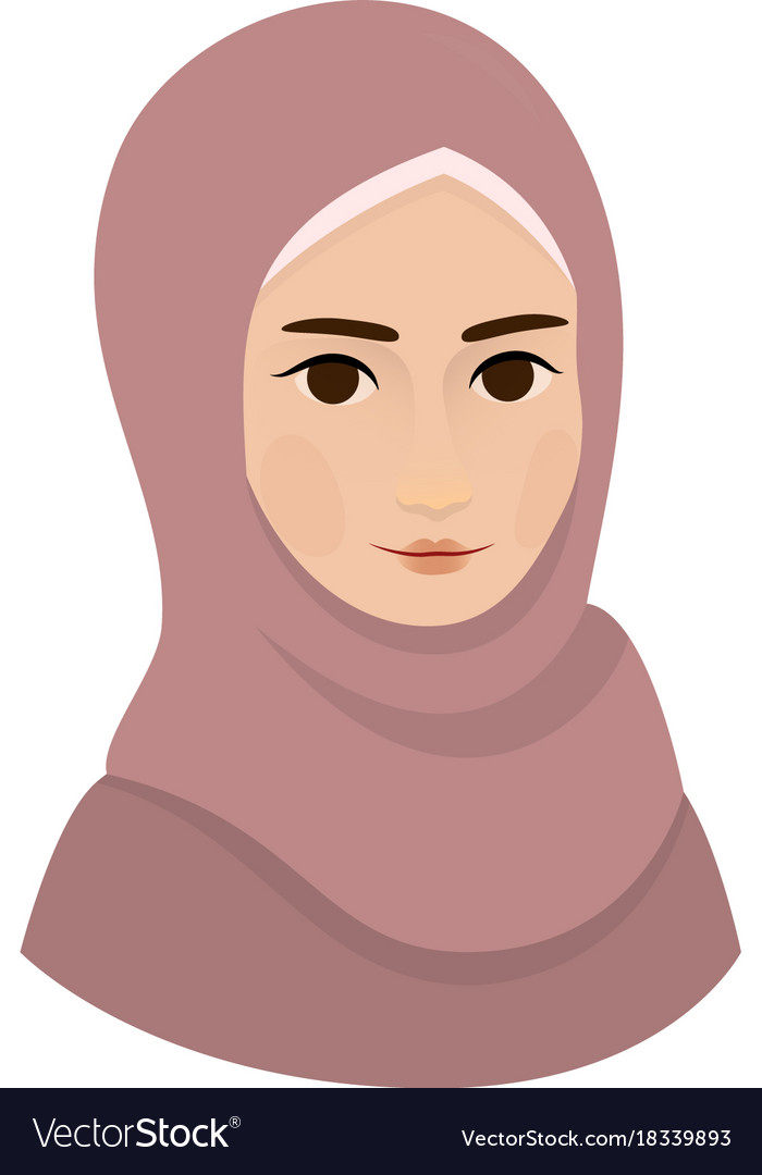 Portrait of muslim beautiful girl woman in hijab