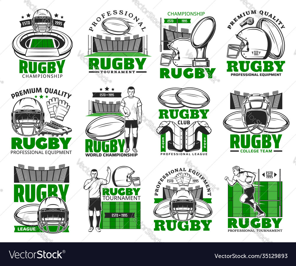 Rugsport icons american football game