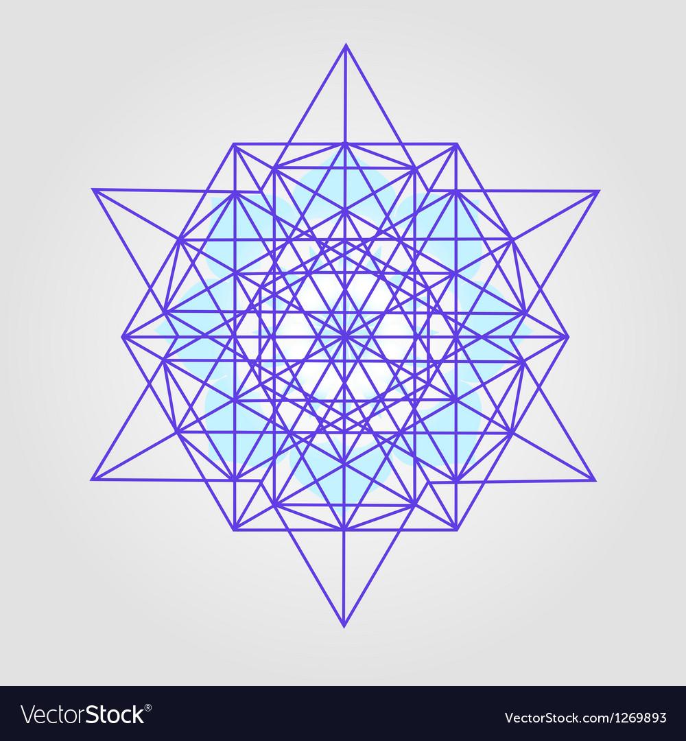 Star Tetrahedron design vector image