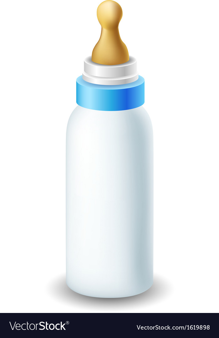 Blue nursing bottle
